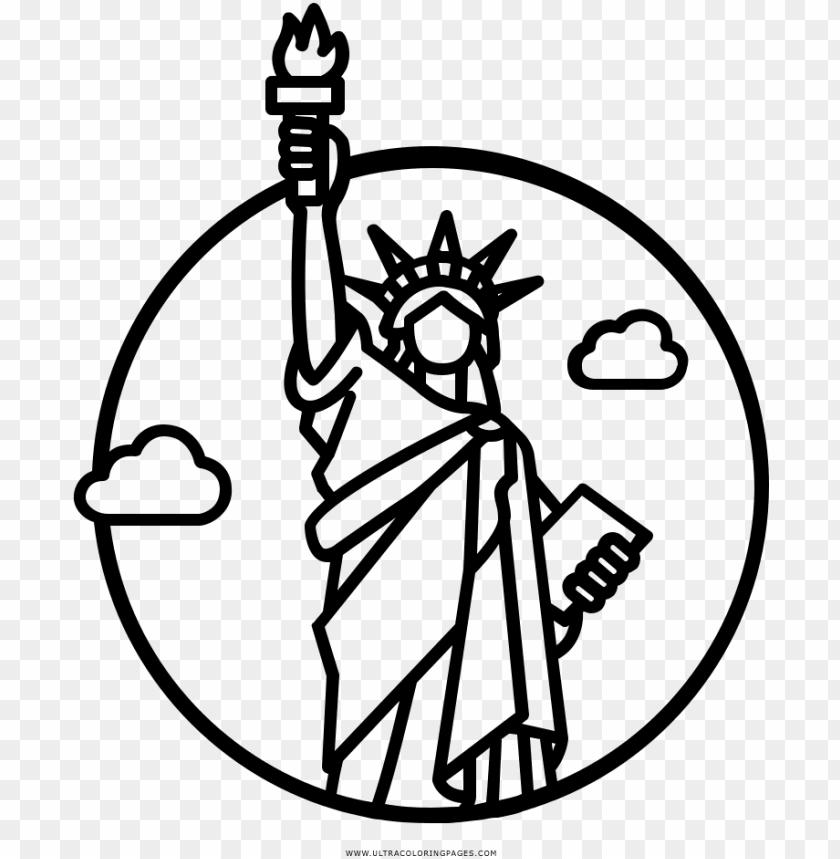 Estatua Da Liberdade Desenho Para Colorir Statue Of Liberty
