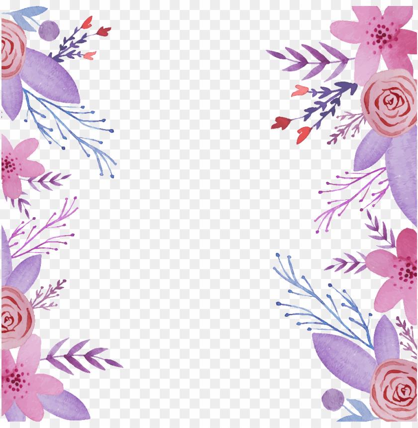 free PNG este fondos es hermosa acuarela corona de flores pintado - purple flowers background PNG image with transparent background PNG images transparent