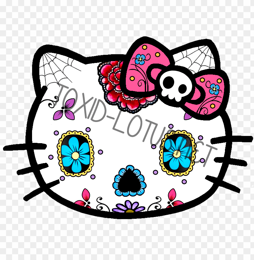 free PNG et » hello kitty sugar skull & zombie - hello kitty iphone x PNG image with transparent background PNG images transparent