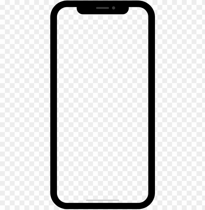 Et Iphone X Blank Png Image With Transparent Background Toppng