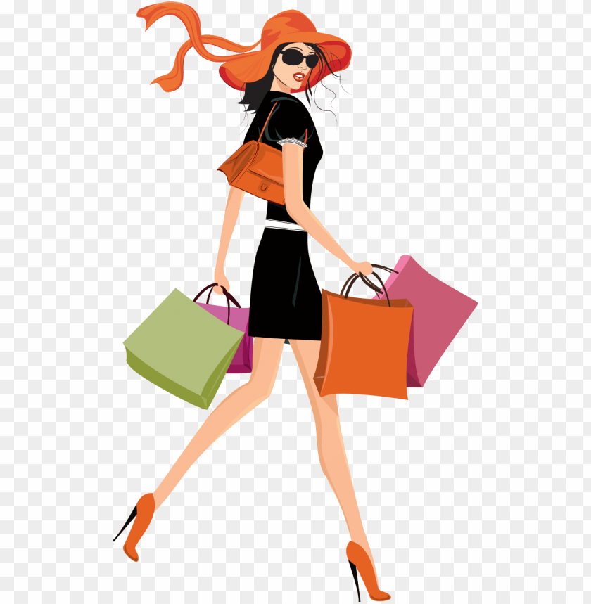 free PNG et shopping the easy way - shopping girl transparent background PNG image with transparent background PNG images transparent