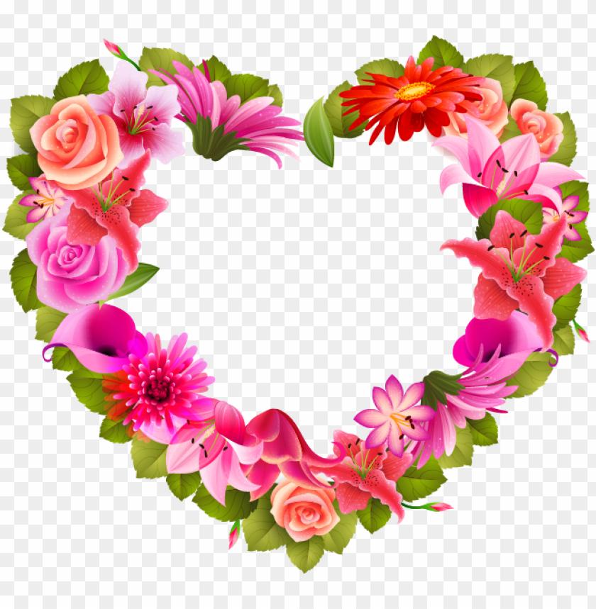 free PNG etal clipart heart shaped flower - flores en forma de corazo PNG image with transparent background PNG images transparent