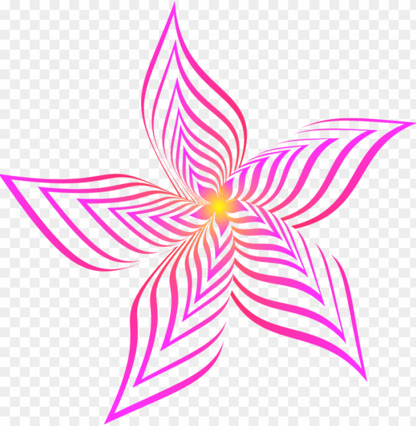 free PNG etal flower abstract art drawing line art - abstract flower art drawi PNG image with transparent background PNG images transparent