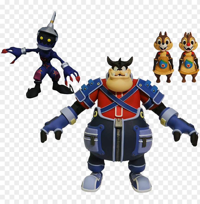 """free PNG ete, soldier, chip & dale 7"""" action figure 4-pack - diamond select kingdom hearts series 2 PNG image with transparent background PNG images transparent"""