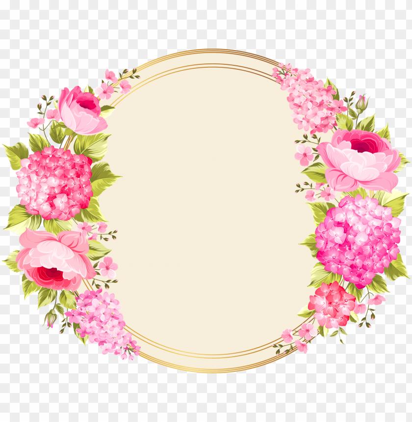 Etiquetas Vintage Flores Png Image With Transparent