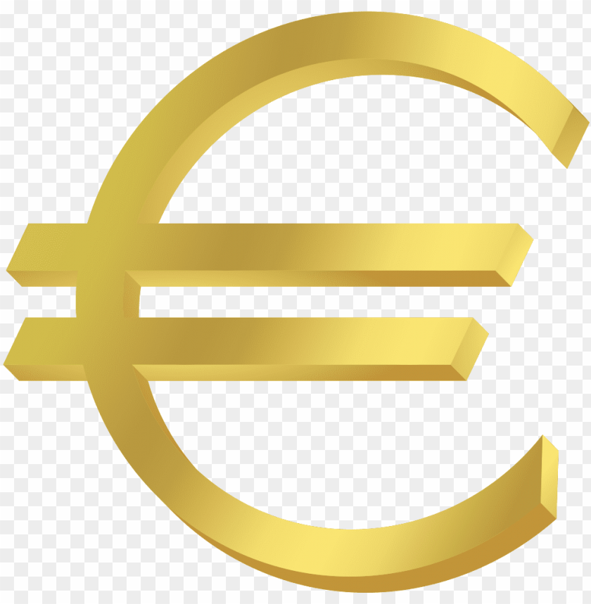 free PNG euro symbol gold - currency of europe symbol PNG image with transparent background PNG images transparent