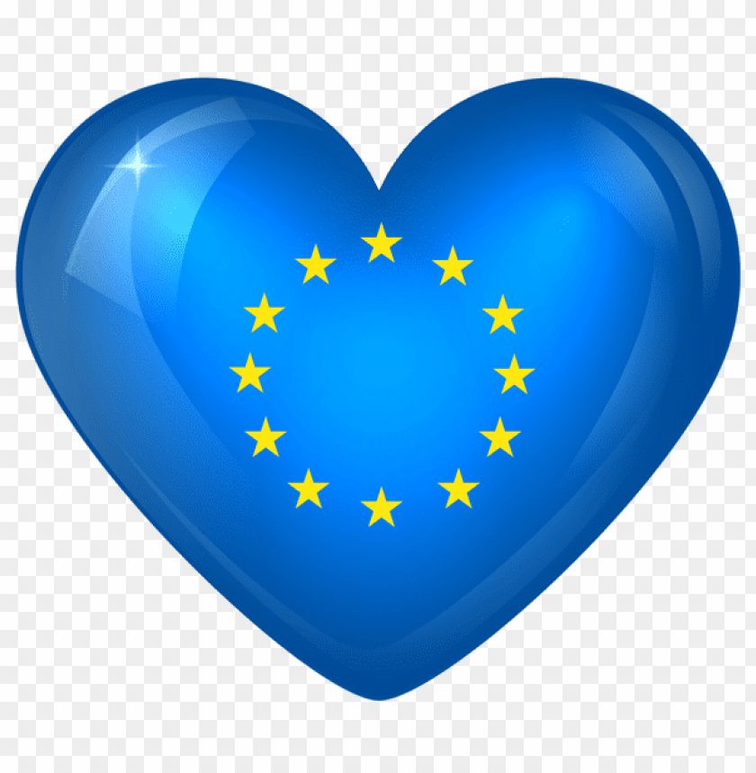 free PNG Download european union large heart flag clipart png photo   PNG images transparent