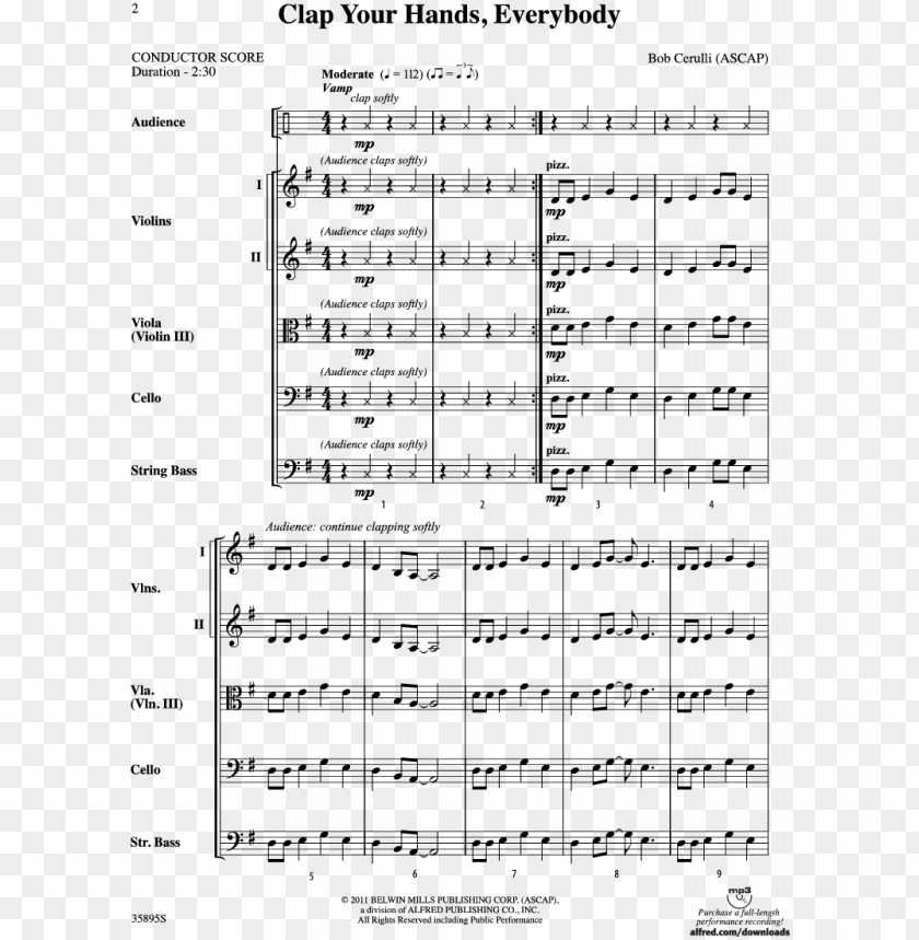 everybody thumbnail clap your hands, everybody thumbnail - patton jerry goldsmith sheet music PNG image with transparent background@toppng.com
