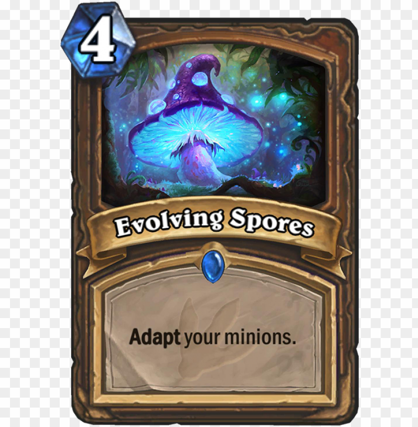 evolving spores card - omega assembly hearthstone PNG image with transparent background@toppng.com