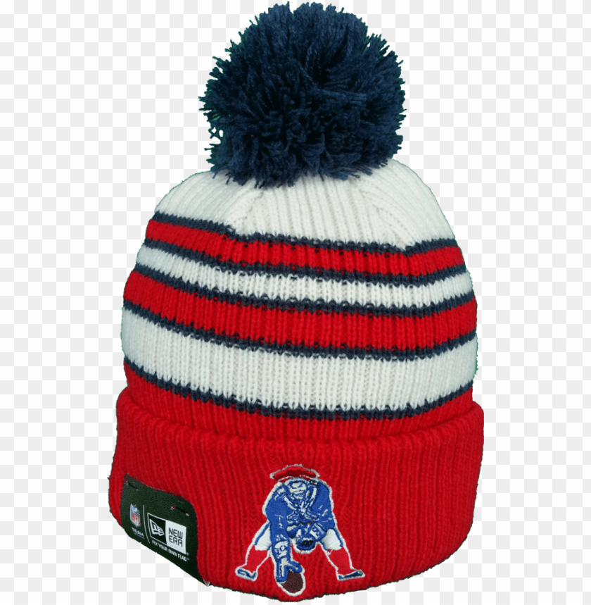 free PNG ew england patriots vintage traditional stripe pom - beanie PNG image with transparent background PNG images transparent