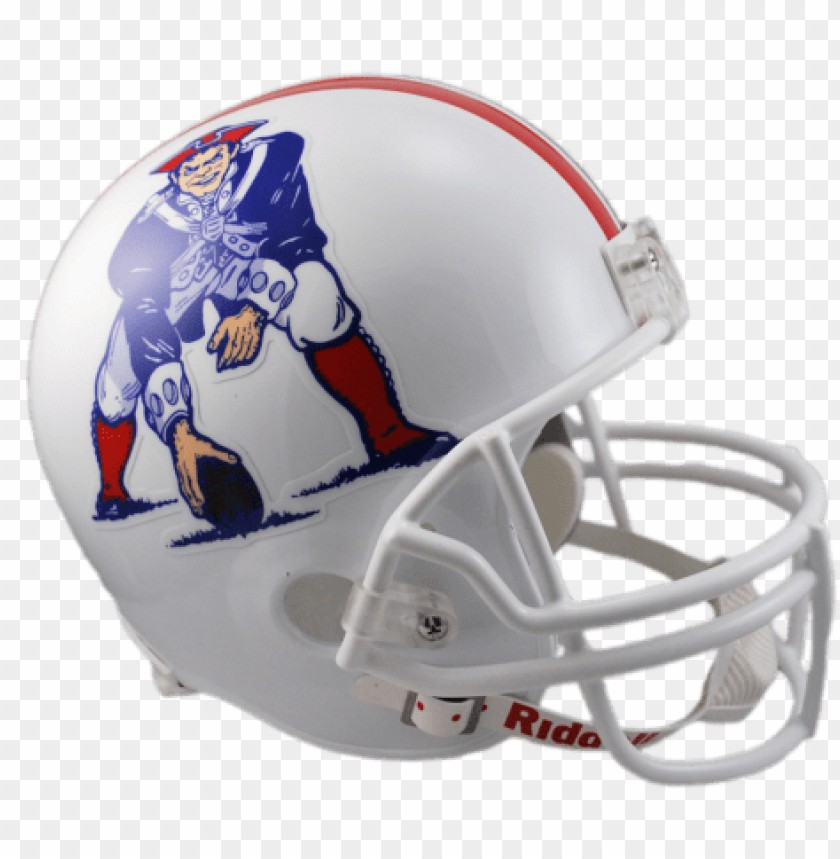 free PNG ew england patriots vsr4 replica throwback helmet - riddell new england patriots full size throwback replica PNG image with transparent background PNG images transparent