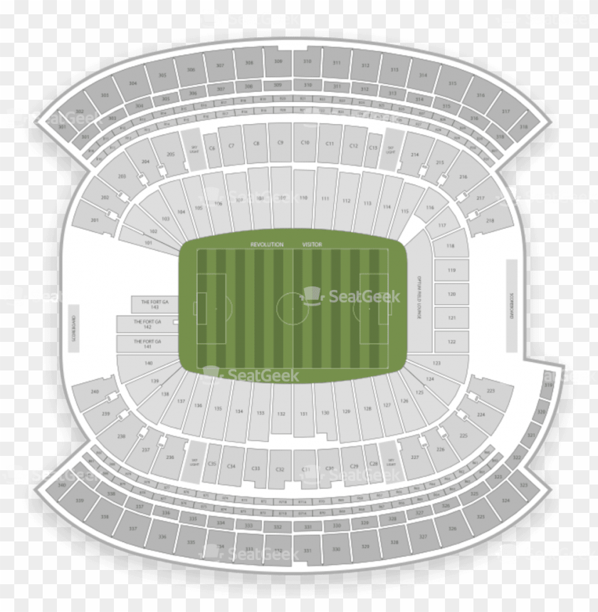 free PNG ew england revolution seating chart map seatgeek - gillette stadium PNG image with transparent background PNG images transparent