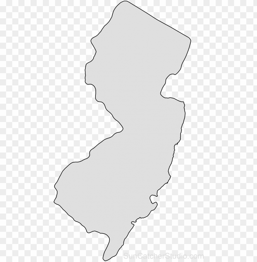 free PNG ew jersey map outline png shape state stencil clip - new jerseystate outline PNG image with transparent background PNG images transparent