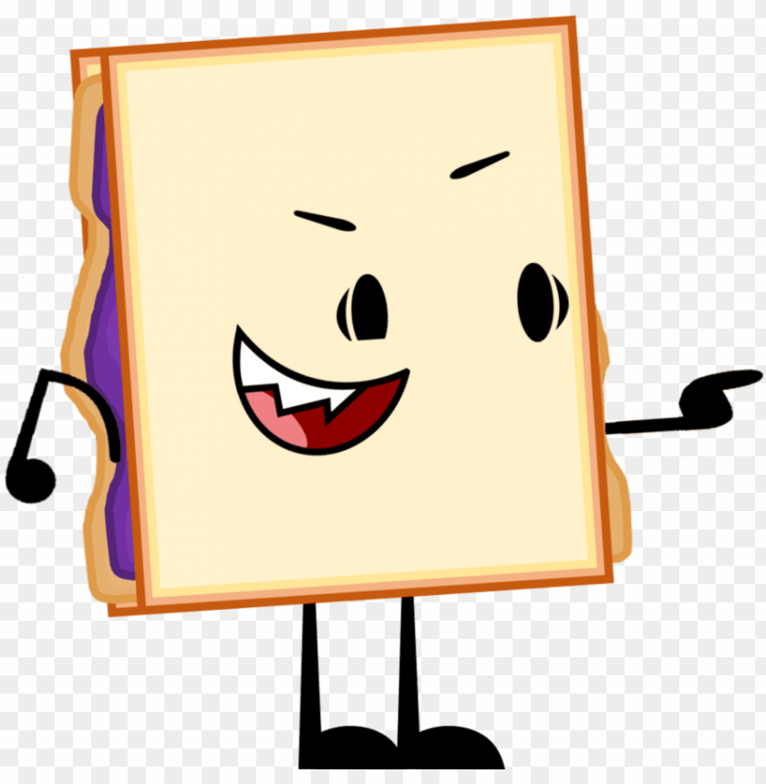 free PNG ew oc peanut butter and jelly sandwich by - oc bfdi episode 1 png oc bfdi wiki fandom powered by PNG image with transparent background PNG images transparent