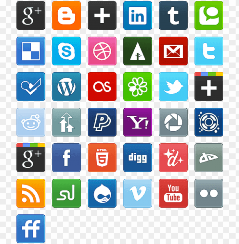 free PNG ew social media bookmarking icon set icon pack by - social media icons PNG image with transparent background PNG images transparent