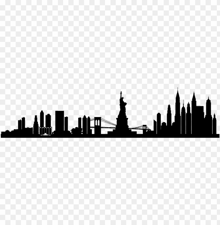 ew york city png skyline new york city - new york city skyline silhouette transparent PNG image with transparent background@toppng.com