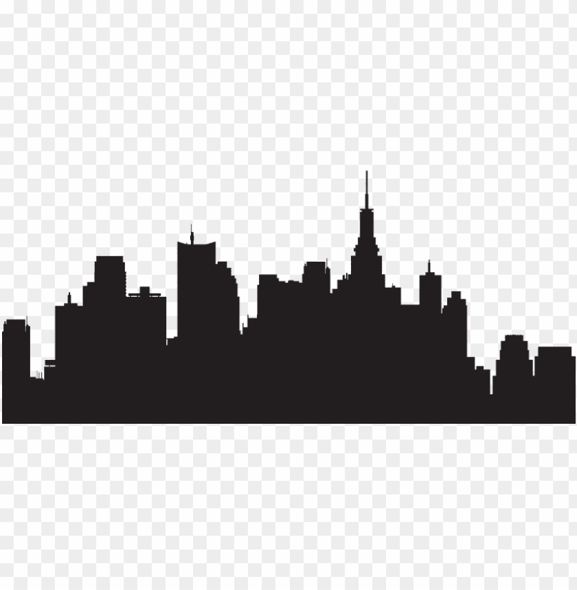 ew york skyline silhouette transparent PNG image with transparent background@toppng.com