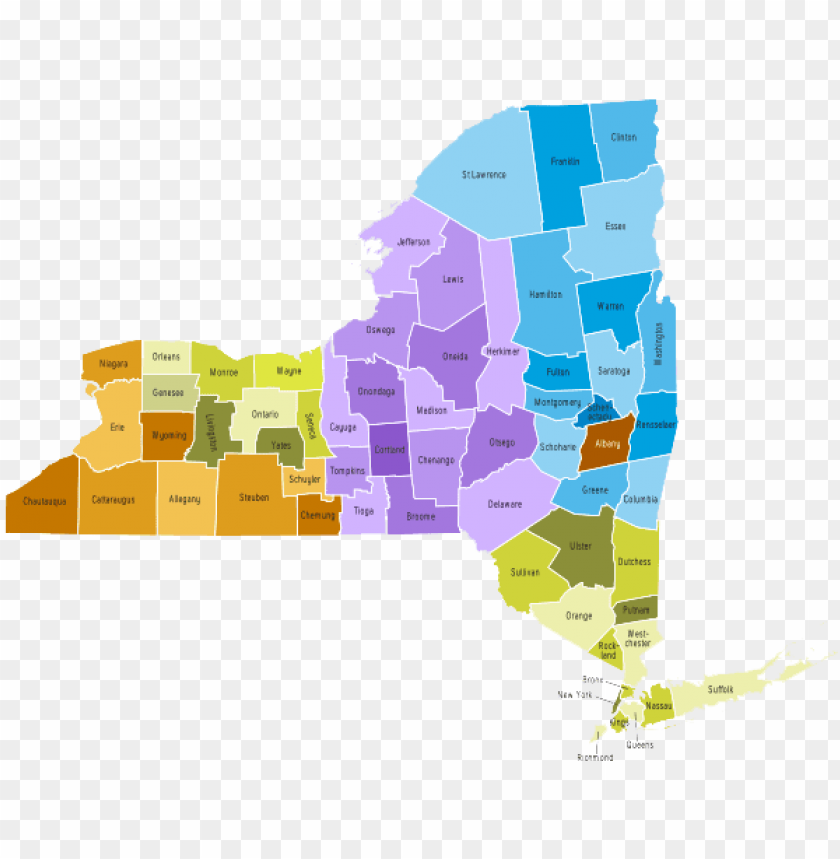 free PNG ew york state - new york state natural resource ma PNG image with transparent background PNG images transparent
