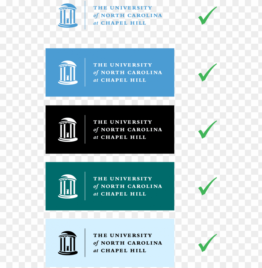 free PNG examples of incorrect logo modifications and usage - university of north carolina at chapel hill PNG image with transparent background PNG images transparent