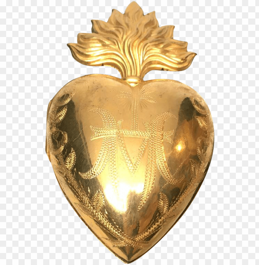 free PNG exceptional large french extravagantly gilded sacred - heart PNG image with transparent background PNG images transparent