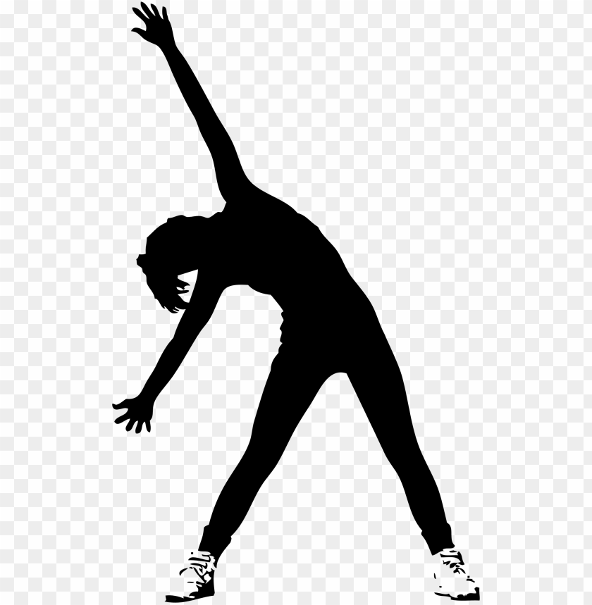 free PNG exercise silhouette fitness centre woman general fitness - silhouette exercise PNG image with transparent background PNG images transparent