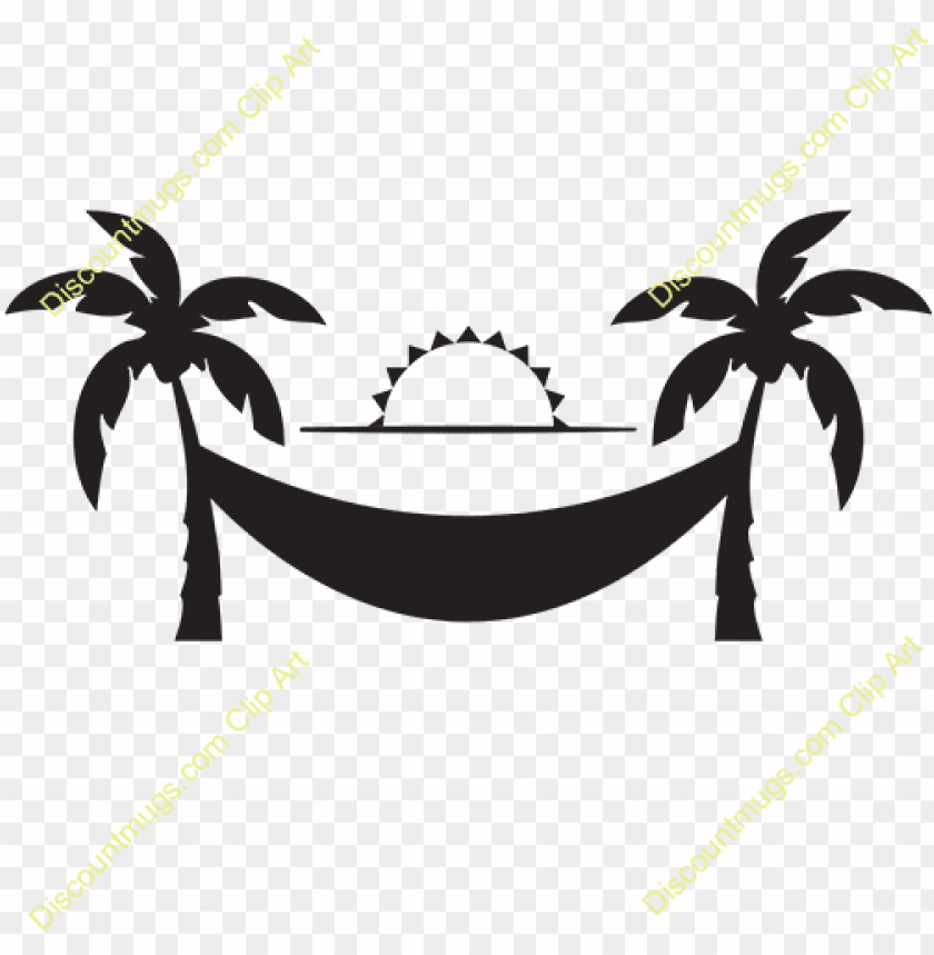 free PNG exotic clipart palm tree hammock - palm trees with hammock clip art PNG image with transparent background PNG images transparent
