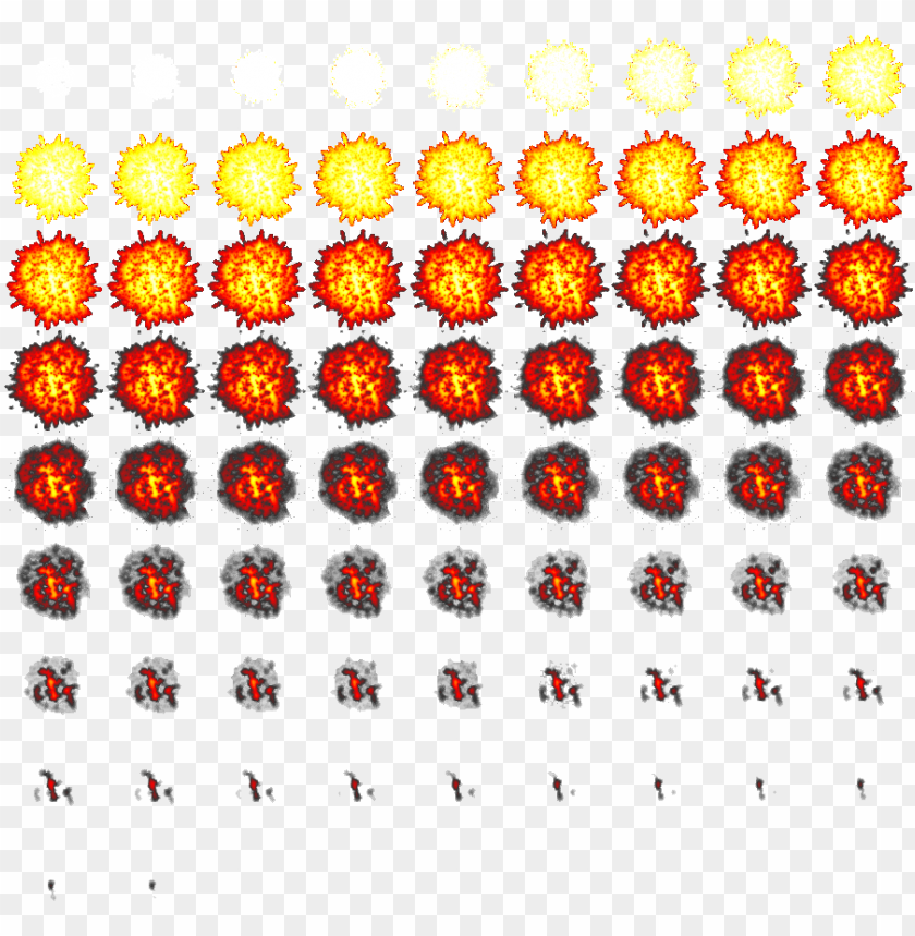 Explosion Sprite Png 2d Explosion Sprite Sheet Png Image With