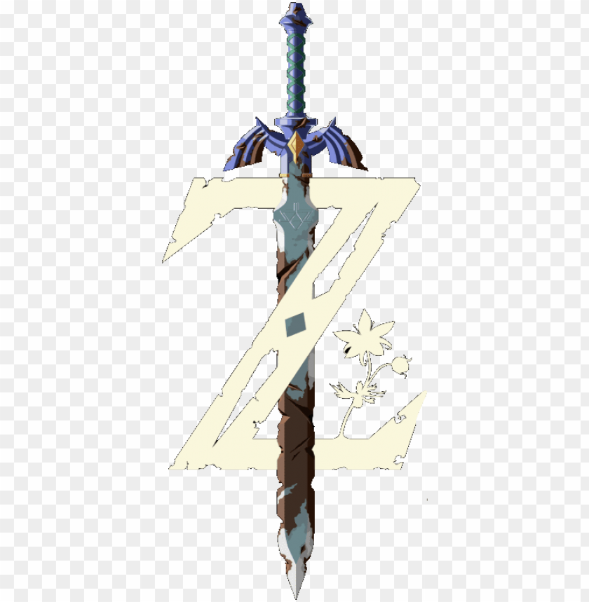 free PNG extract the sword from the logo - legend of zelda breath of the wild master sword PNG image with transparent background PNG images transparent