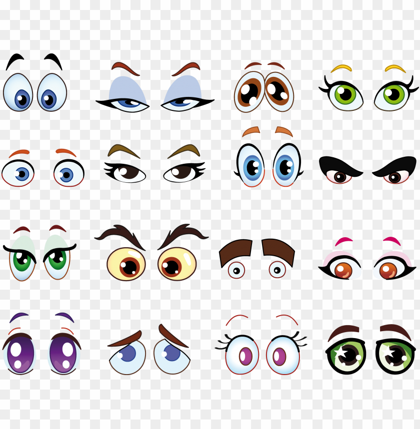 Eyeball Clipart Square Eye Child Cartoon Eyes Png Image With