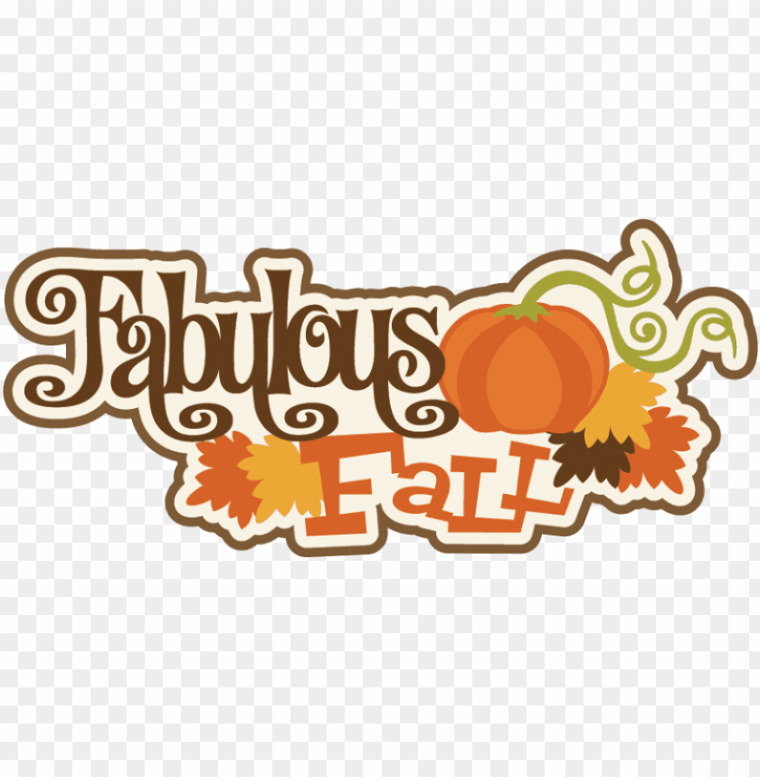 free PNG fabulous fall svg scrapbook title fall svg cut files - pumpki PNG image with transparent background PNG images transparent
