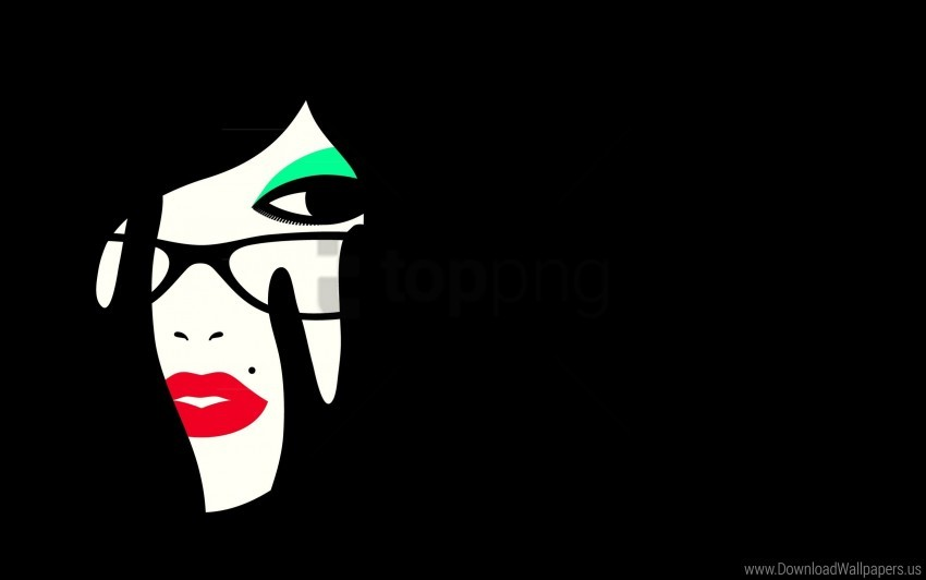 free PNG face, girl, makeup, minimalism, vector graphics wallpaper background best stock photos PNG images transparent