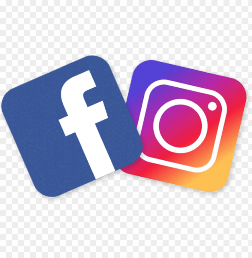free PNG facebook and instagram logo png - facebook instagram logo PNG image with transparent background PNG images transparent
