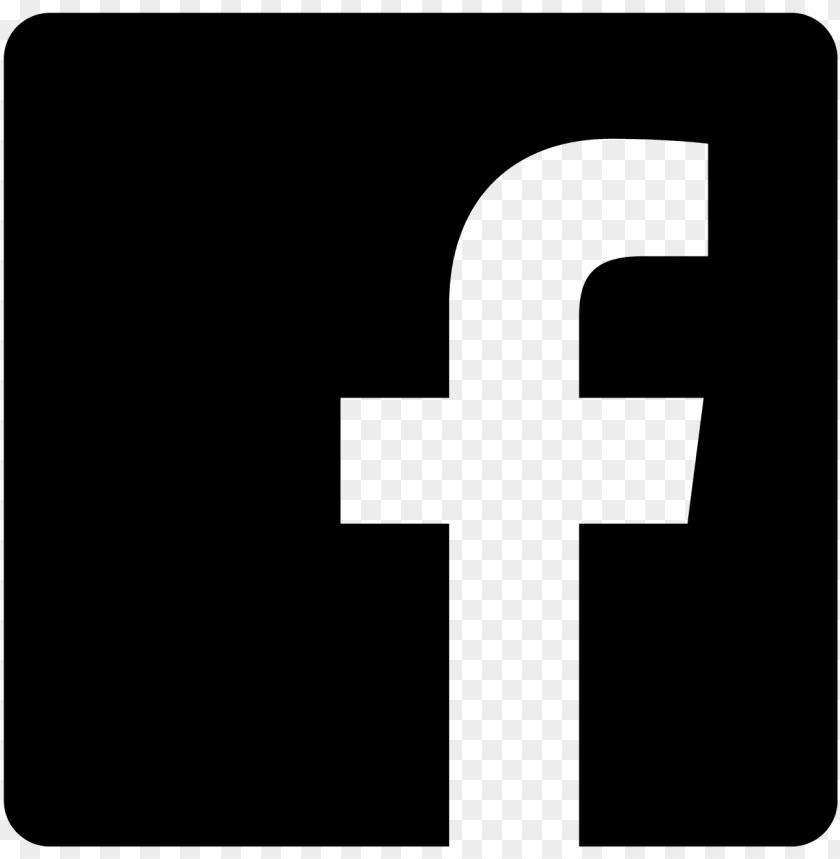 And black white free facebook icon Facebook Icon