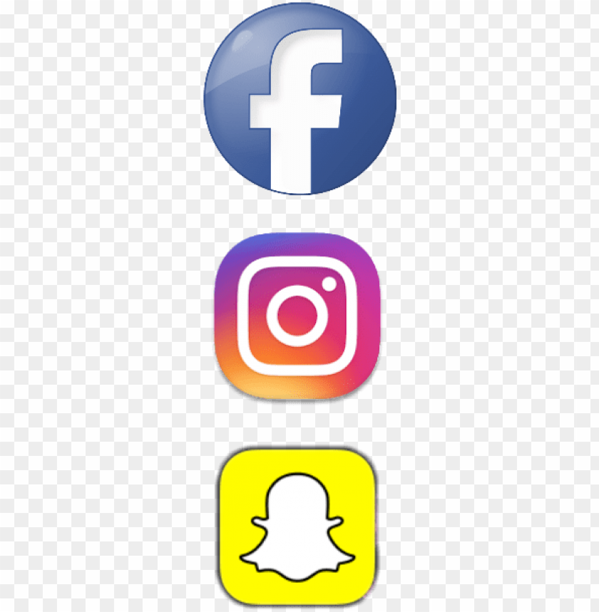 Facebook Instagram Snapchat Logo Png Image With Transparent Background Toppng