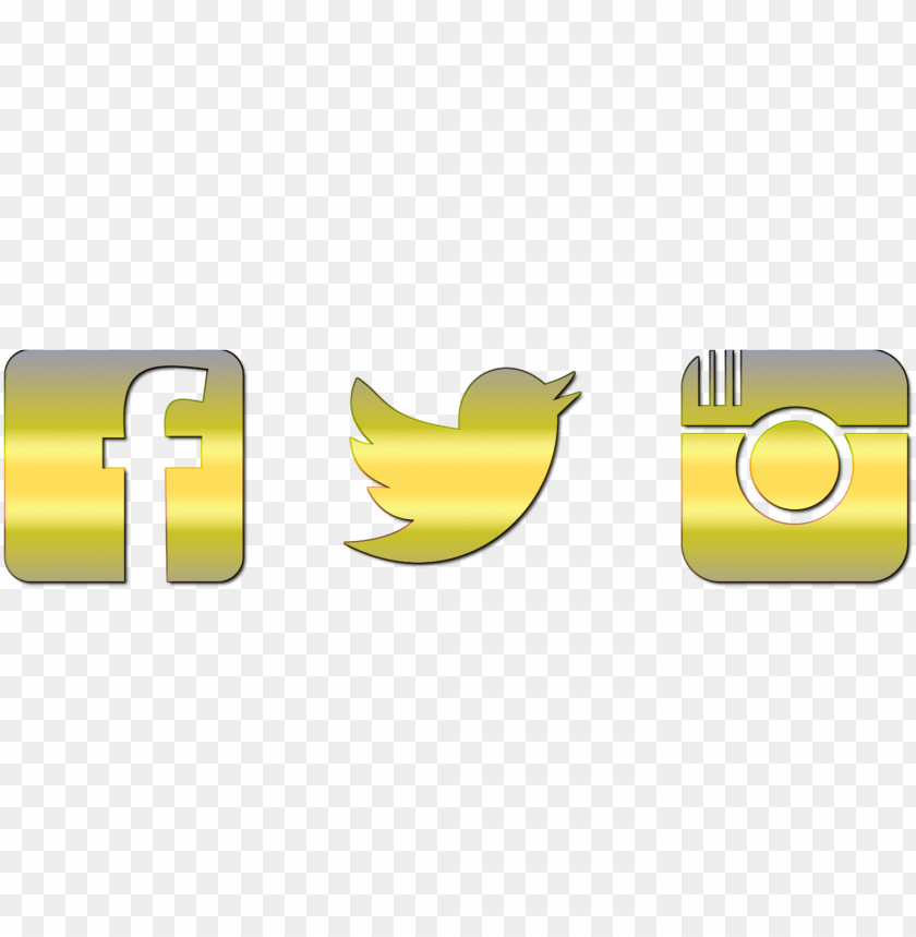 free PNG facebook instagram twitter icons png - facebook logo gold PNG image with transparent background PNG images transparent