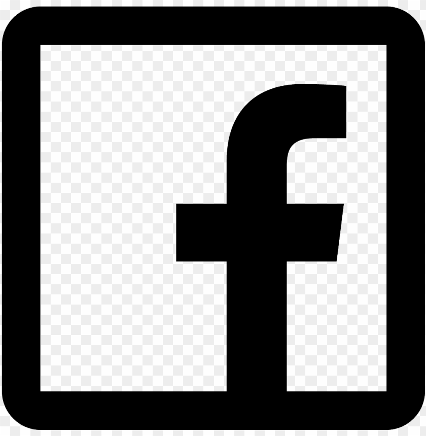 Facebook Logo Transparent Black And White Png Image With Transparent Background Toppng