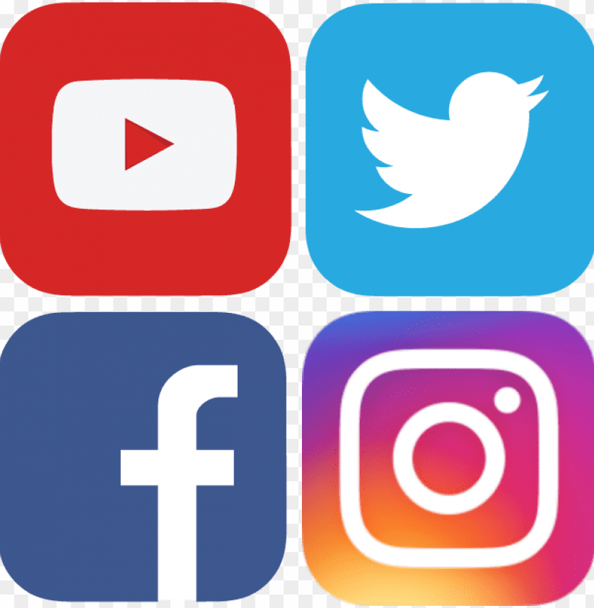 free PNG facebook twitter instagram icons png - social media icons facebook twitter instagram youtube PNG image with transparent background PNG images transparent