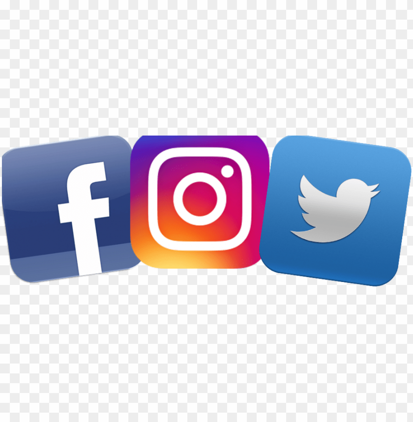 free PNG facebook twitter instagram logo png - fb twitter instagram logo PNG image with transparent background PNG images transparent