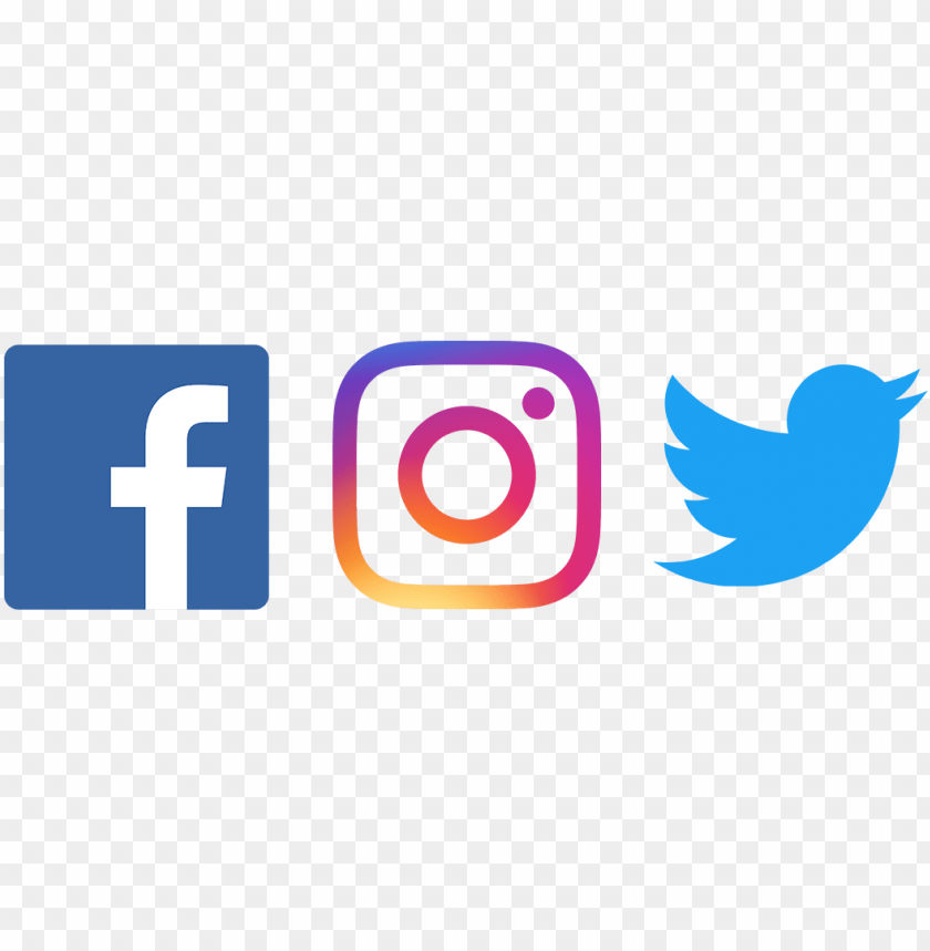 free PNG facebook twitter instagram png - fb twitter instagram logo PNG image with transparent background PNG images transparent