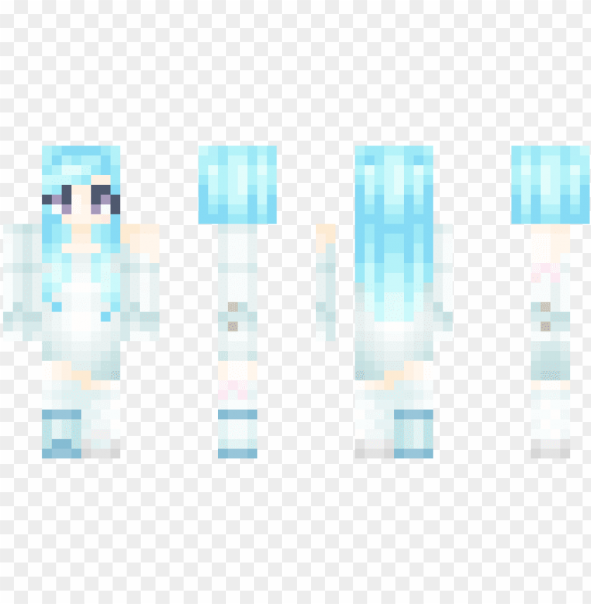 Faded Winter Unicorn Minecraft Skin Girls Png Image With