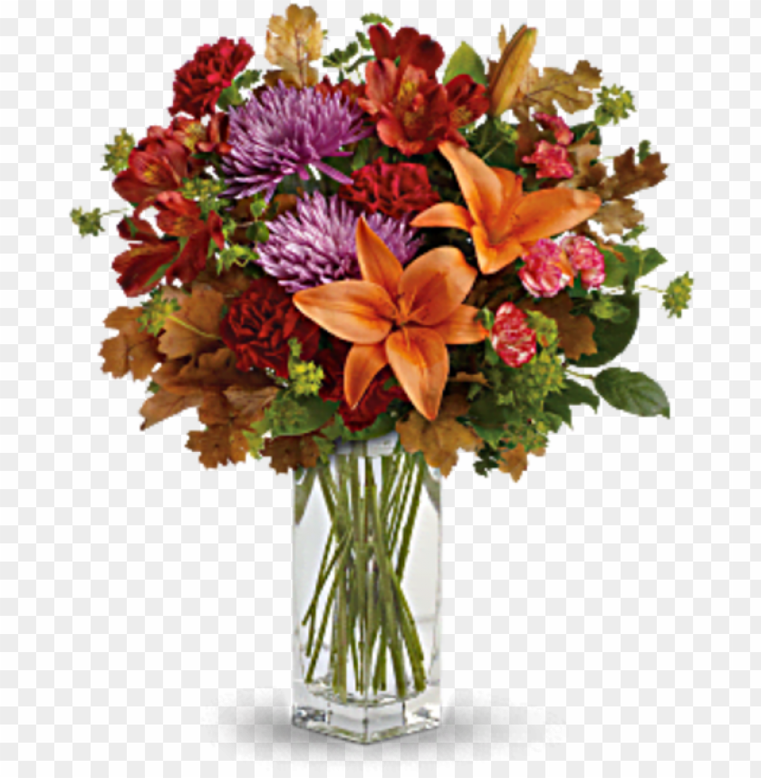 Fall Flowers Autumn Garden Bouquet Fresh Flower Arrangement Png Image With Transparent Background Toppng