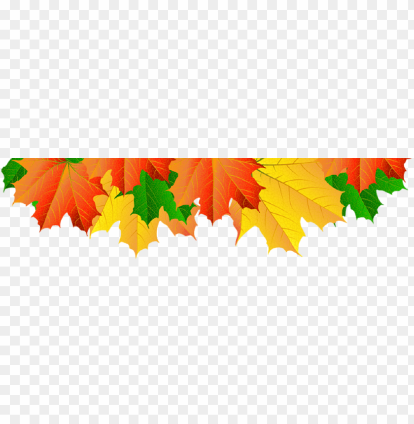 Download fall leaves border clipart png photo | TOPpng