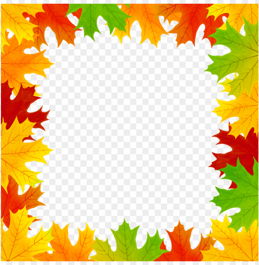 Download Fall Leaves Border Frame Clipart Png Photo Toppng
