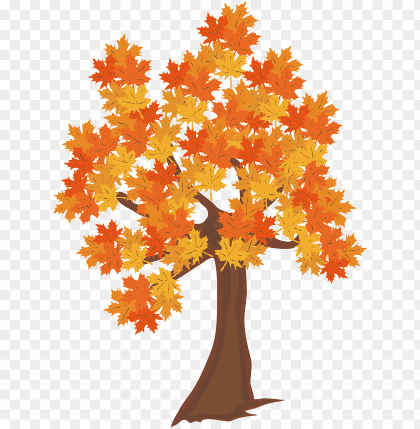 Fall Leaves Falling From A Tree Png Real Trees Clipart Autumn