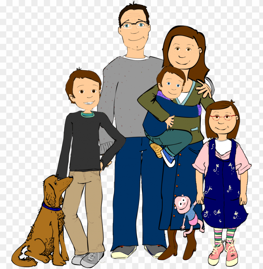 free PNG family cartoon child hispanic clip art family transprent - hispanic family clipart PNG image with transparent background PNG images transparent