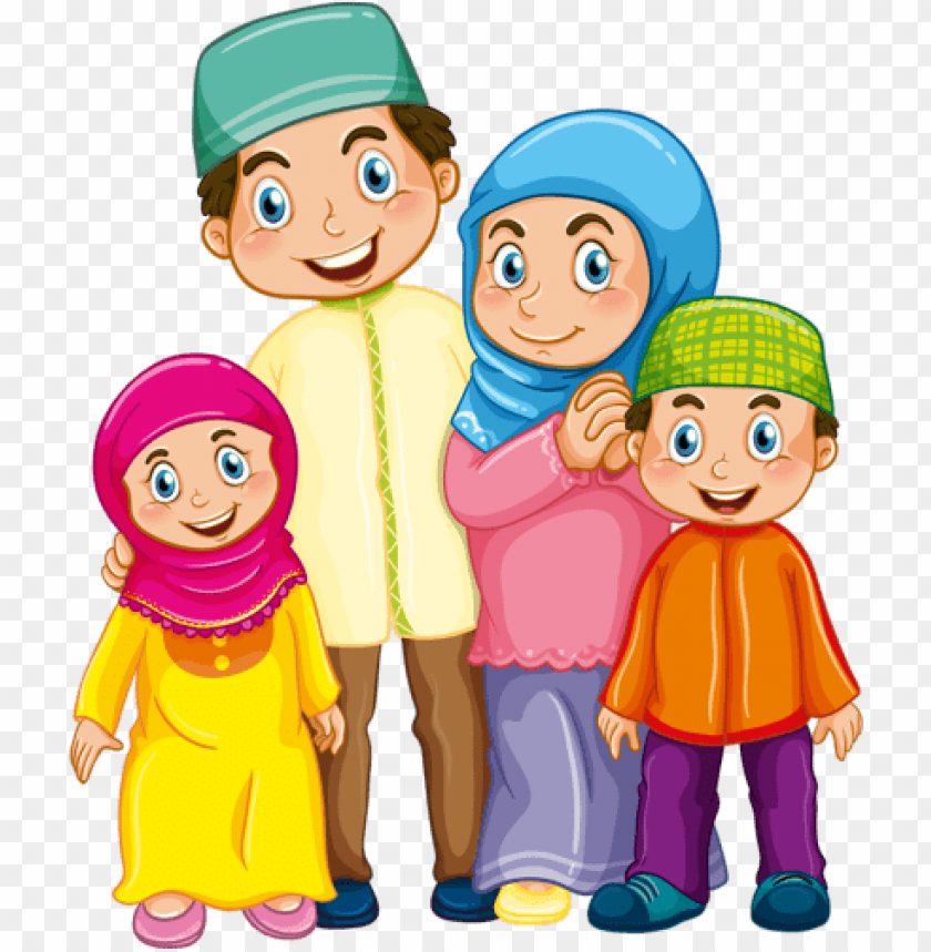 free PNG family clipart, family vector, muslim family, muslim - islamic family PNG image with transparent background PNG images transparent