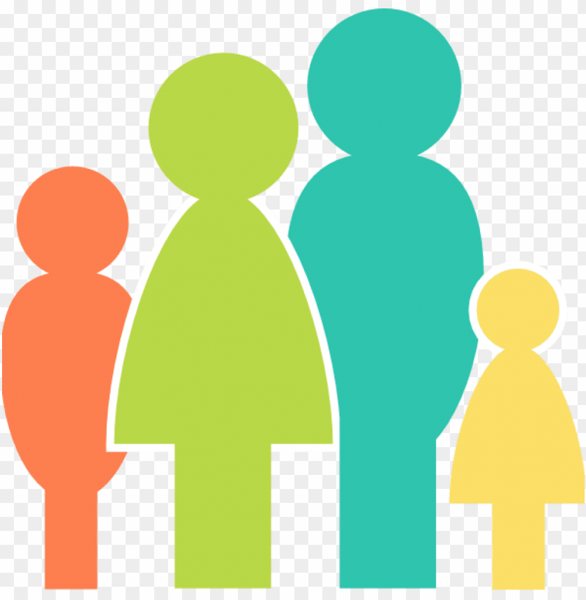 free PNG family clipart multicolor family clip art at clker - family clipart PNG image with transparent background PNG images transparent