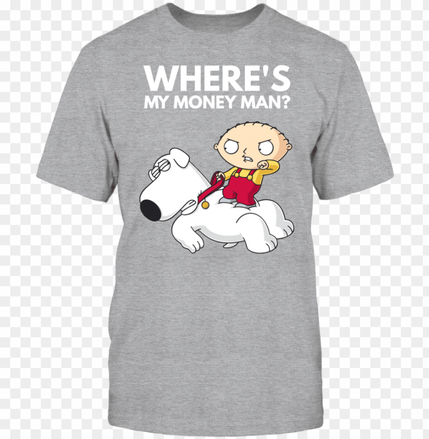 free PNG family guy stewie brian where's my money man - family guy funny shirts stewie PNG image with transparent background PNG images transparent