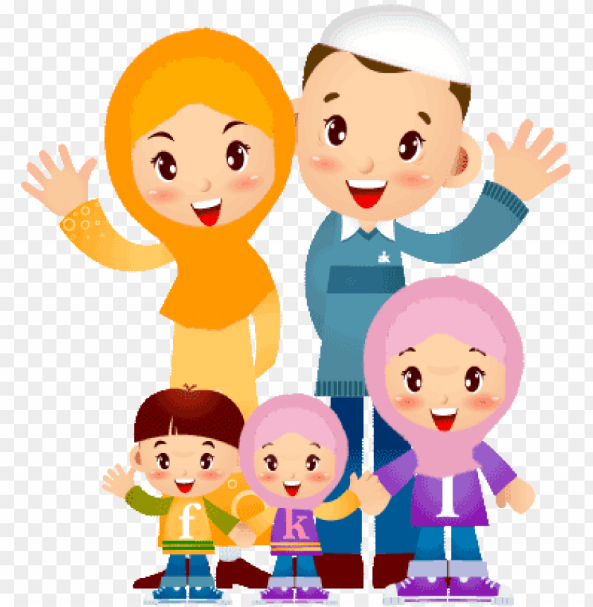 family muslim cartoon png image with transparent background toppng family muslim cartoon png image with