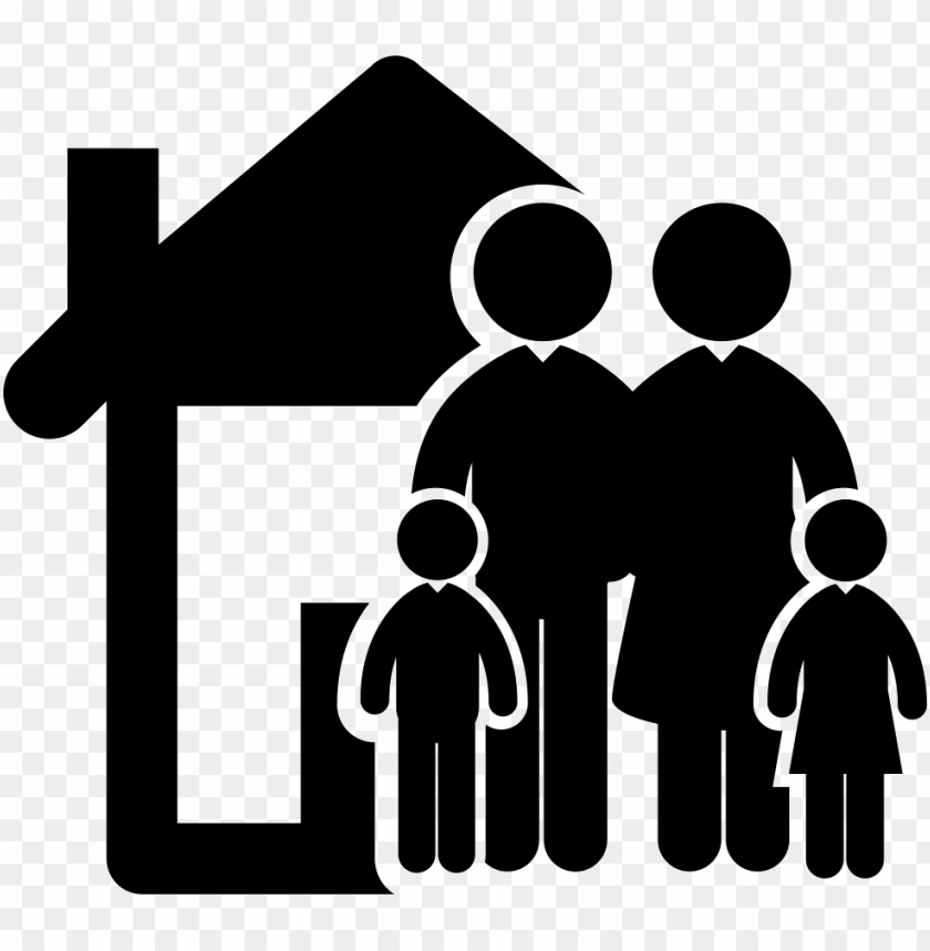 family of four in front of their home comments - family home icon PNG image with transparent background@toppng.com